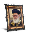 """Gedolim Portrait on Wood with 2 Ways to Display 9"""" x 12"""" - רב עובדיה יוסף (RP7 SPECIAL)"""