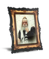 """Gedolim Portrait on Wood with 2 Ways to Display 9"""" x 12"""" - רבי מלובביץ (RP9 SPECIAL)"""