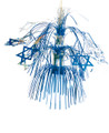 """Blue and Silver Magen David Lantern - Pack of 12 - 16"""" (71166)"""