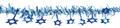 Blue and Silver Hanging Magen David Garland - Pack of 12  (71171)