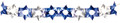Blue and Silver Magen David Garland - Pack of 12 - 8' (71134)