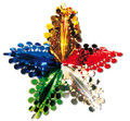 """5 Section Multi Colored Star - Pack of 12 - 24"""" (71139)"""