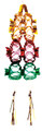 """3 Tier Multi Colored Lantern - Pack of 12 - 8"""" (71231)"""