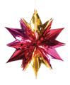 """6 Section Gold and Red Star - Pack of 12 - 24"""" (71141)"""