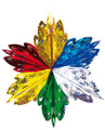 """5 Section Multi Colored Star - Pack of 12 - 16"""" (71232)"""
