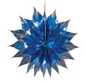 """Blue and Silver Pleated Star - Pack of 12 - 12"""" (71263)"""
