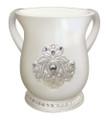 Acrylic Washing Cup Pearl Diamond   WC-AVI572W
