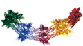 """12"""" 9 Section Multi Colored Garland - Pack of 12 (71119)"""