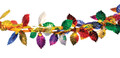 """10"""" 14 Section Multi Colored Leaves Garland - Pack of 12 (71116)"""