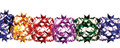 """11"""" 15 Section Multi Colored Garland - Pack of 12 (71117)"""