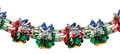 """12"""" 7 Section Multi Colored Garland - Pack of 12 (71118)"""