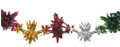 """9"""" 11 Section Multi Colored Garland - Pack of 12 (71186)"""