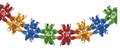 """12"""" 14 Section Multi Colored Garland - Pack of 12 (71177)"""