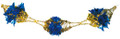 """8"""" 6 Section Gold and Blue Garland - Pack of 12 (71182)"""