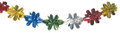 """8"""" 15 Section Multi Colored Garland - Pack of 12 (71127)"""