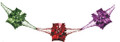 """8"""" 6 Section Multi Colored Garland - Pack of 12 (71215)"""