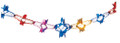 """8"""" 11 Section Multi Colored Garland - Pack of 12 (71187)"""