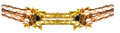 """8"""" 5 Section Gold and Copper Garland - Pack of 12 (71185)"""