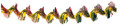 """12"""" Red & Gold Twist Garland - Pack of 12 - (71147)"""