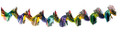 """12"""" Multi Colored Twist Garland - Pack of 12 - (71148)"""