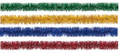 """4"""" 12' Long Tinsel, Assorted Colors - Pack of 12 (71219)"""