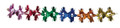 """8"""" 12 Section Multi Colored Garland - Pack of 12 (71256)"""
