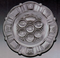 """Silver Plated Seder Plate  15"""""""
