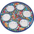Passover Seder Plate - Laser Cut Hand Painting - Birds (EM-SPL2)