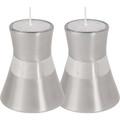 EM-CMS1 Anodized Aluminum Candlesticks Small- Silver