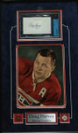 Doug Harvey Montreal Canadiens Signed Index Card 3x5 With 8x10