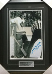 Johnny Bower B/W Toronto Maple Leafs Signed Framed 12x18