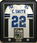 Emmitt Smith White Cowboys Signed Framed Jersey