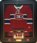 Maurice Richard  Guy Lafleur Jean Beliveau  Montreal 500 Goal Scorer Autographed Wool Jersey