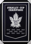 Toronto Maple Leafs Framed Dynasty Banner