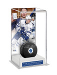 Auston Matthews Toronto Maple Leafs signed Puck with Custom Display Case