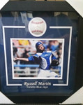 Russell Martin Toronto Blue Jays Signed Baseball Framed