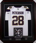  Adrian Peterson Framed Autographed Minnesota Vikings Jersey Framed 