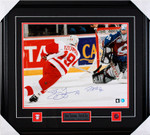 Yzerman and Roy Dual AUTOGRAPHED 16x20 Framed Photo