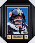  Jack Lambert Autographed Pittsburgh Steelers 8x10 framed photo
