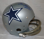 Roger Staubach Autographed Full Size Dallas Cowboys Silver TK Helmet