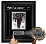 Wayne Gretzky Autographed RANGERS 8x10 with Etched Glasss