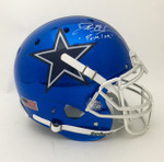 Deion Sanders Signed Schutt Chrome Dallas Cowboys Helmet