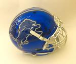 Barry Sanders Blue Chrome Detroit Lions Authentic Schutt Helmet