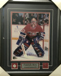 Patrick Roy- Head On Signed Montreal 11x14 Framed