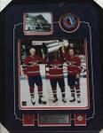 Lafleur, Beliveau & M.Richard Montreal Canadiens Signed Puck Framed With 8x10