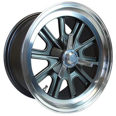 "#14865 - 17"" x 9"" and 17"" x 10.5""  Vintage Halibrand Replica Wheels"