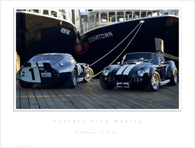 #15028 - Type 65 Coupe and Mk3 Roadster Lithograph, Serial Numbered Limited 1 of 499
