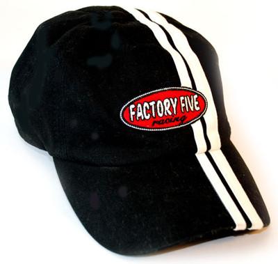 #15194 - Black Racing Striped Hat