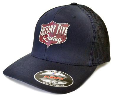#16020 - Factory Five Shield Trucker Hat - Blue