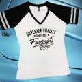 "Factory Five ""Superior Quality"" Women's V-Neck Baseball Shirt"